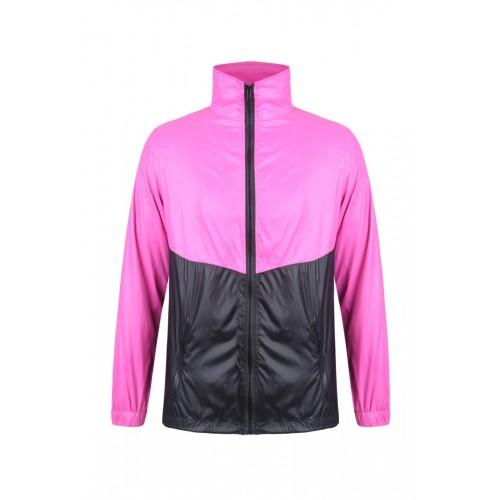 外套 拼色風褸 粉紅黑版