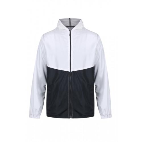 外套 拼色風褸 白黑版
